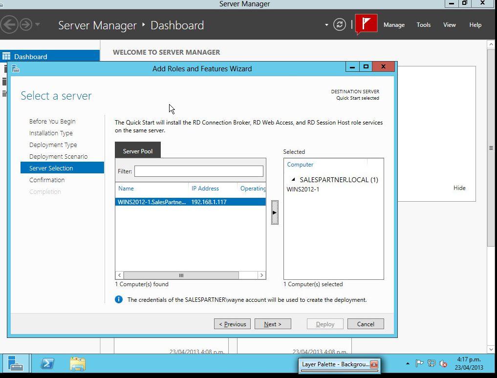 Install remote desktop connection broker dc
